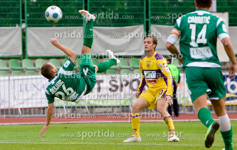 Davor Skerjanc of Olimpija at 3rd Round of Hervis Slovenian Cup football match between NK Olimpija Ljubljana and NK Maribor,  on October 21, 2009, in Sportni park Ljubljana, Ljubljana, Slovenia.  Maribor won 1:0. (Photo by Vid Ponikvar / Sportida)