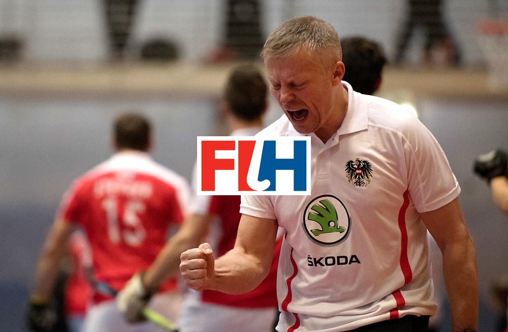 BERLIN - Indoor Hockey World Cup<br /> Austria - Belgium<br /> foto: SZMIDT Tomasz<br /> WORLDSPORTPICS COPYRIGHT FRANK UIJLENBROEK