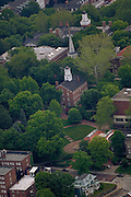 Aerial view of Cutler Hall and Scripps Amphitheater. © Ohio University