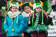 Goshen, New York - People enjoy the Mid-Hudson St. Patrick's Parade on March 15, 2015.