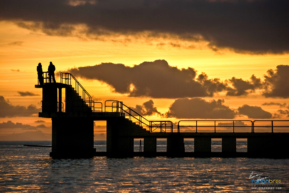 Salthill Diving Sunset