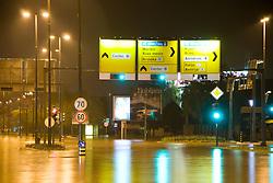 Trzaska street flooded after heavy rain on September 18, 2010, in Ljubljana, Slovenia. (Photo by Matic Klansek Velej / Sportida)