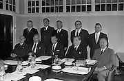 19/09/1962<br /> 09/19/1962<br /> 19 September 1962<br /> 1st Meeting of the Committee on Bankruptcy. A meeting of the committee on the Law of Bankruptcy was addressed by Charles Haughey, Minister for Justice at the Four Courts Dublin. Picture shows the committee with the Minister before the meeting. Front row l-r: Dr. Richard G.H. Carter; Mr. John W. Scanlon, B.L.; Mr. Charles Haughey; Mr Justice Budd, Chairman of the Committee and Mr. Desmond J. Collins.<br /> Back row l-r: Mr. M. Ormond, Secretary; Mr. T.J. Donnelly, Dept. of Justice; Mr. John V. Clancy, Official Assignee in Bankruptcy; Mr. Liam McGonagle and Mr James D. Traynor, A.C.A..