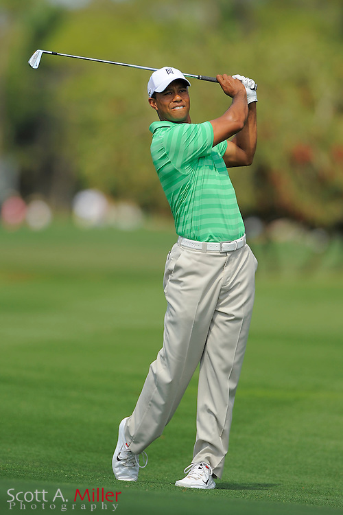 Tiger Woods during the third round of the Honda Classic at PGA National on March 3, 2012 in Palm Beach Gardens, Fla. ..©2012 Scott A. Miller.