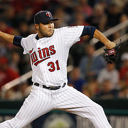 February 27, 2011; Fort Myers, FL, USA; Minnesota Twins relief pitcher Alex Burnett (31) during a spring training exhibition game against the Boston Red Sox at Hammond Stadium.  Mandatory Credit: Derick E. Hingle