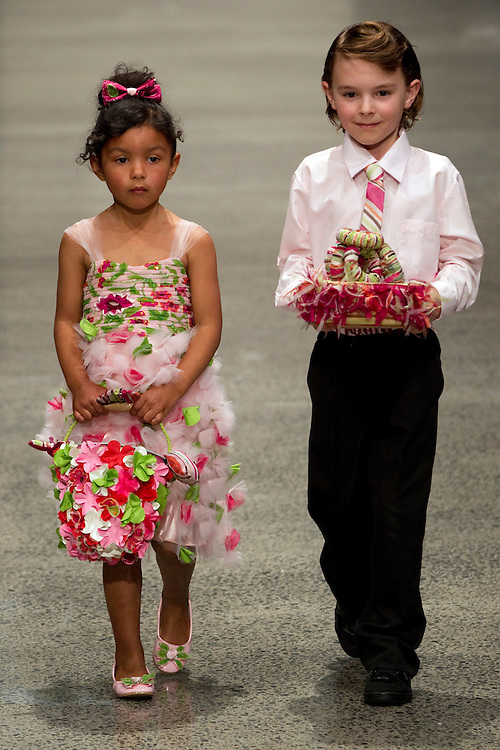 Modes in the bridal show collection at New Zealand Fashion Week, Viaduct Events Centre, Auckland, New Zealand, Wednesday, August 31, 2011.  Credit:SNPA / David Rowland