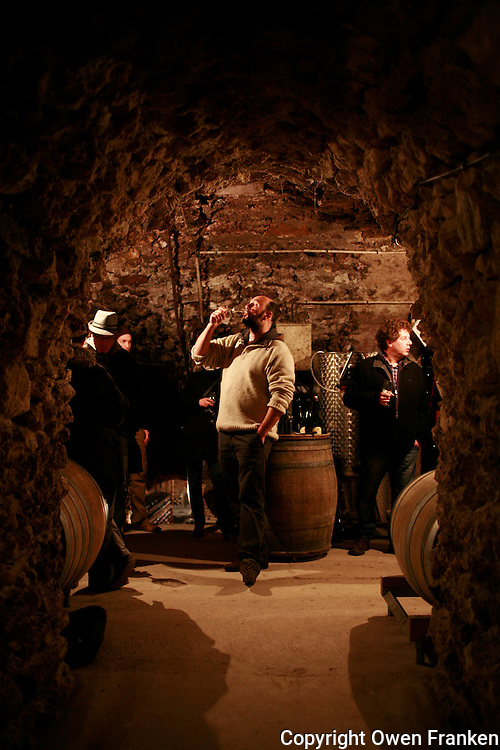 Tasting in the cellars of  Champagne maker Georges Laval - Photograph by Owen Franken