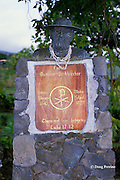 monument to Father Damien, the Leper Priest, who spent his life working among the residents at the leper colony at Kalaupapa, Molokai, Hawaii, USA