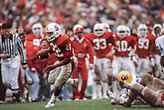 COLLEGE FOOTBALL: Stanford v Cal in the Big Game, Nov 21, 1981 at Stanford Stadium in Palo Alto, California.  Vincent White #22 Stanford.  Photograph by David Madison