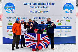 FITZPATRICK Menna Guide: KEHOE Jennifer, B2, GBR, Women's Slalom at the WPAS_2019 Alpine Skiing World Championships, Kranjska Gora, Slovenia