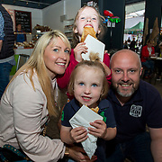 14.06.2018.             <br /> Limerick Food Group hosted the Urban Food Fest street food evening in the Milk Market on Thursday June 14th with a 'Summer Fiesta' theme in one big Limerick city summer party.<br /> <br /> Pictured at the event were, Treasa, Cliodhna, Tadgh and Steve Cunneen, Treaty City Brewery. Picture: Alan Place