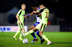 Victor Adeboyejo of Bristol Rovers is challenged by Thibaud Verlinden of Bolton Wanderers  - Mandatory by-line: Ryan Hiscott/JMP - 22/10/2019 - FOOTBALL - Memorial Stadium - Bristol, England - Bristol Rovers v Bolton Wanderers - Sky Bet League One