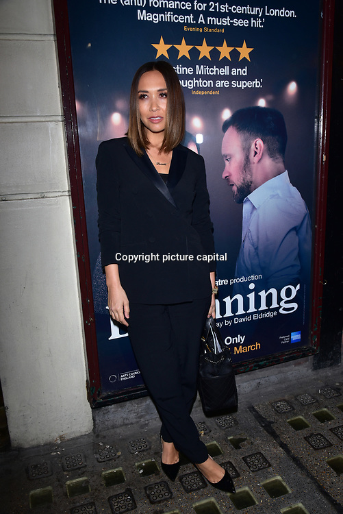 London, England, UK. 23 January 2018. Myleene Klass Arrivers at Beginning - press night at Ambassadors Theatre.