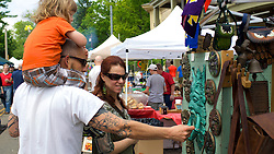Pleasant mild temperatures at this years Home and Garden festival. Many vendors showcasing arts, crafts and curiosa alongside Germantown Avenue.
