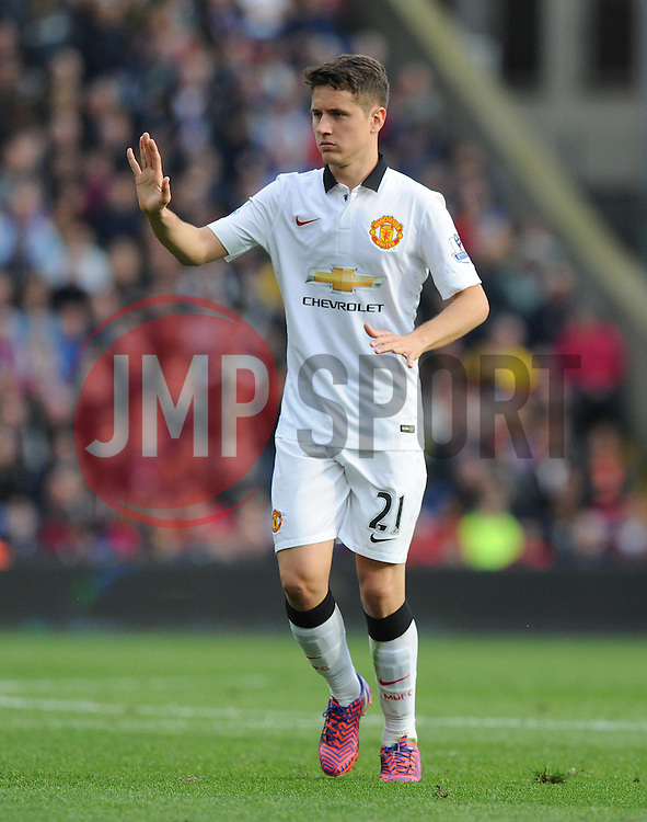 Manchester United's Ander Herrera- Photo mandatory by-line: Alex James/JMP - Mobile: 07966 386802 - 09/05/2015 - SPORT - Football - London - Selhurst Park - Crystal Palace v Manchester United - Barclays Premier League