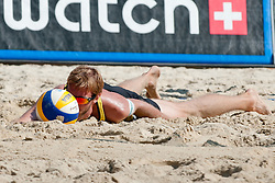 Sebastian Dollinger of Germany at A1 Beach Volleyball Grand Slam tournament of Swatch FIVB World Tour 2011, on August 3, 2011 in Klagenfurt, Austria. (Photo by Matic Klansek Velej / Sportida)