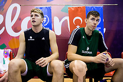 Luka Doncic of Slovenia and Vlatko Cancar of Slovenia during practice session of Slovenian National team 1 day prior to the basketball match between National Teams of Slovenia and Ukraine in Round of 16 of the FIBA EuroBasket 2017, at Ahmet Cömert Sports Hall in Istanbul, Turkey on September 8, 2017. Photo by Vid Ponikvar / Sportida