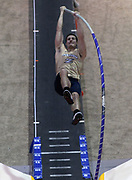Jan 18, 2019; Reno, NV, USA; Matt Ludwig of Akron wins the pole vautl at 18-9 (5.71m) during the UCS Spirit National Pole Vault Summit at the Reno-Sparks  Livestock Events Center.