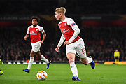 Arsenal Forward Emile Smith-Rowe (55) during the Europa League group stage match between Arsenal and Sporting Lisbon at the Emirates Stadium, London, England on 8 November 2018.