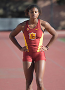 Nov 2, 2017; Los Angeles, CA, USA; Southern California Trojans hurdler Anna Cockrell during workout at Cromwell Field.