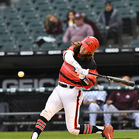 April 24,2019 - Chicago, IL,US - University of Chicago vs Illinois Tech  at White Sox Stadium in Chicago IL. <br /> Illinois Tech hosted University of Chicago.  The scarlet hawks failed to hold on to a 5-3 lead in bottom of the 7th inning. University of Chicago wins  8-5.<br /> Credit: Dean Reid