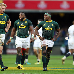 Pieter-Steph du Toit with Chiliboy Ralepelle of South Africa during the 2018 Castle Lager Incoming Series 3rd Test match between South Africa and England at Newlands Rugby Stadium,Cape Town,South Africa. 23,06,2018 Photo by (Steve Haag JMP)