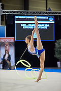Annalisa Elmi  from Putinati team during the Italian Rhythmic Gymnastics Championship in Padova, 25 November 2017.