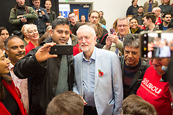 © Licensed to London News Pictures. 02/11/2019. Swindon, Wiltshire, UK.  Labour leader JEREMY CORBYN speaks at a campaign event at the start of Labour's general election campaign in the South West of England at Commonweal 6th form in Swindon, a Conservative-held marginal seat. Labour are promising the biggest people-powered campaign the country has ever seen. Photo credit: Simon Chapman/LNP.
