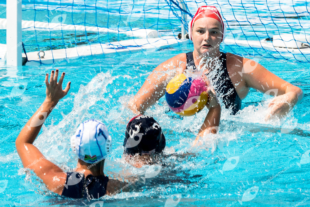 NIXON Lauren RSA  <br /> RSA (white cap) -  USA (blue cap)<br /> Preliminary Round Water Polo<br /> Day03  16/07/2017 <br /> XVII FINA World Championships Aquatics<br /> Alfred Hajos Complex Margaret Island  <br /> Budapest Hungary <br /> Photo @ Deepbluemedia/Insidefoto