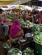 A food market in Pushkar, Rajasthan, India