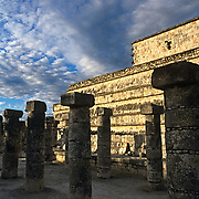 Warriors corridor..Chichen Itza, Yucatan..Mexico.