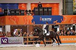 Van Schaik Rozemarijn, NED, Four Legends KS<br /> KWPN Stallionshow - 's Hertogenbosch 2018<br /> © Hippo Foto - Dirk Caremans<br /> 02/02/2018