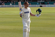 Neil Dexter leaves the field during the Specsavers County Champ Div 2 match between Leicestershire County Cricket Club and Gloucestershire County Cricket Club at the Fischer County Ground, Grace Road, Leicester, United Kingdom on 17 June 2019.