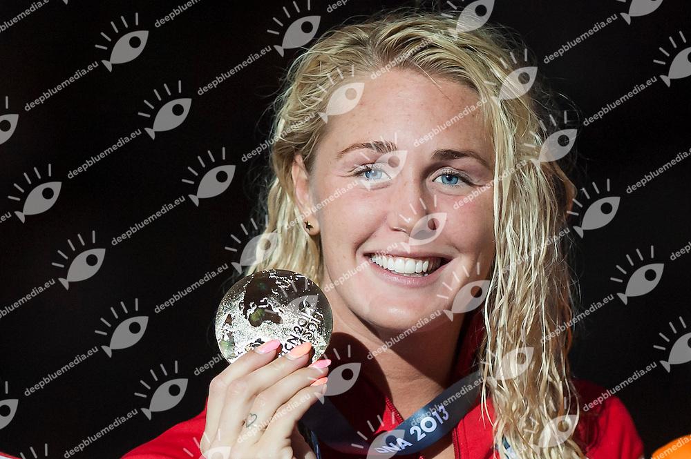 OTTESEN GRAY Jeanette DEN gold medal<br /> Women's 50m butterfly final<br /> 15th FINA World Aquatics Championships<br /> Palau Sant Jordi, Barcelona (Spain) 03/08/2013 <br /> &copy; Giorgio Perottino / Deepbluemedia.eu / Insidefoto