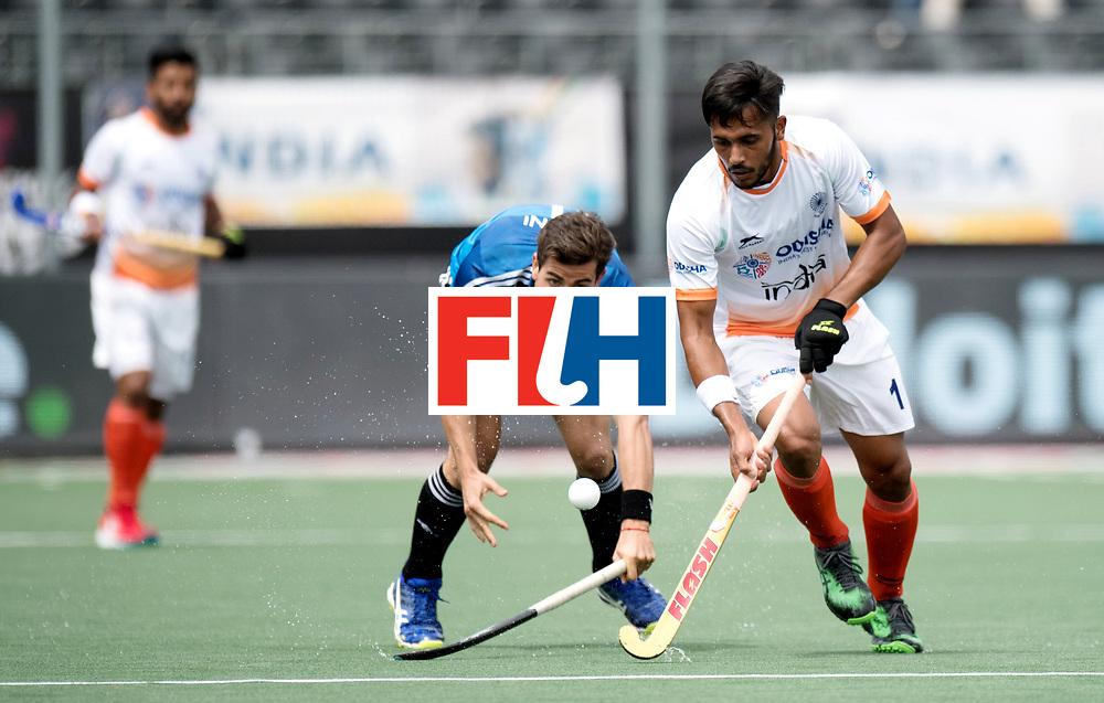 BREDA - Rabobank Hockey Champions Trophy<br /> India - Argentina<br /> Photo: Harmanpreet Singh.<br /> COPYRIGHT WORLDSPORTPICS FRANK UIJLENBROEK