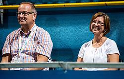 Father and mother of Aljaz Bedene of Slovenia, when he win during the Final match at Day 10 of ATP Challenger Zavarovalnica Sava Slovenia Open 2019, on August 18, 2019 in Sports centre, Portoroz/Portorose, Slovenia. Photo by Vid Ponikvar / Sportida