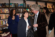 GILLY GREENWOOD, PETER STOTHARD, book launch for No Longer With Us by Naim Attallah. Daunt books. Marylebone. London. 28 Novermber 2018
