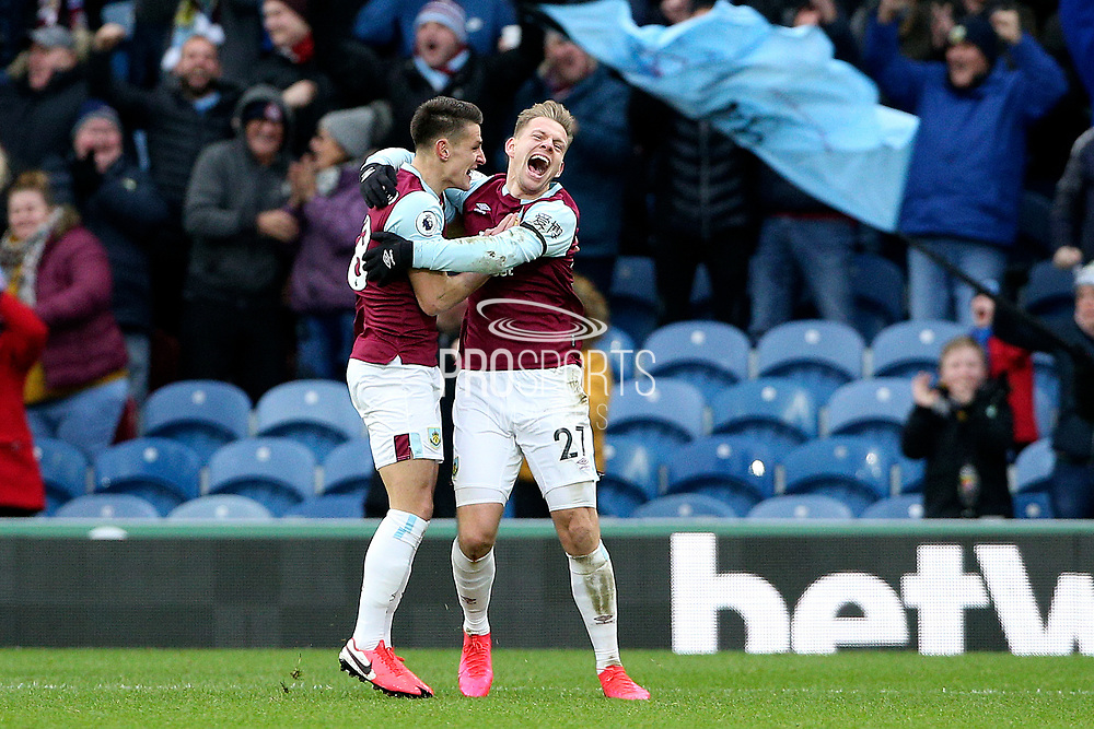 Burnley forward Matej Vydra (27) celebrates his goal 1-0  during the Premier League match between Burnley and Bournemouth at Turf Moor, Burnley, England on 22 February 2020.