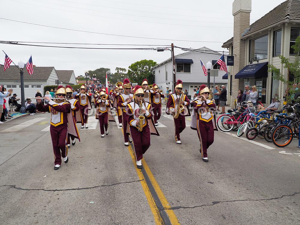 USC Marching Band at the Annual Balboa Island Parade
