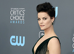 Jaimie Alexander at the 23rd Annual Critics' Choice Awards held at the Barker Hangar in Santa Monica, USA on January 11, 2018.