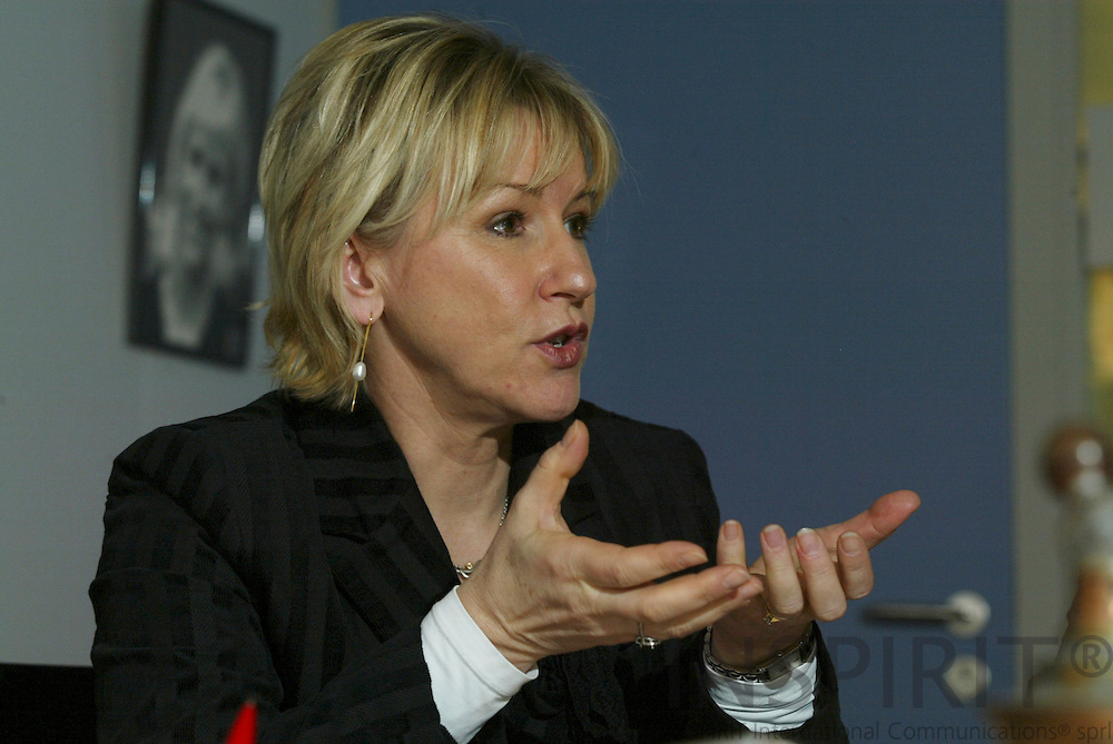 BRUSSELS - BELGIUM - 03 FEBRUARY 2006 -- Vice-President of the EU-Commission, Margot WALLSTRÖM (Wallstrom, Wallstroem) Commissioner for Institutional Relations and Communication Strategy.   PHOTO: ERIK LUNTANG / INSPIRIT