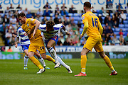 Reading Forward Danny Williams (23) battles for the ball during the Sky Bet Championship match between Reading and Preston North End at the Madejski Stadium, Reading, England on 30 April 2016. Photo by Jon Bromley.