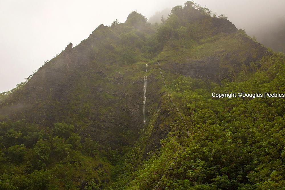Stairway to Heaven, Waterfalls, Koolau Mountains, Windward, Oahu, Hawaii