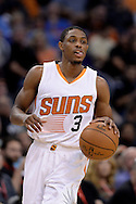 Mar 21, 2016; Phoenix, AZ, USA; Phoenix Suns guard Brandon Knight (3) handles the ball in the game against the Memphis Grizzlies at Talking Stick Resort Arena. The Memphis Grizzlies won 103-97. Mandatory Credit: Jennifer Stewart-USA TODAY Sports