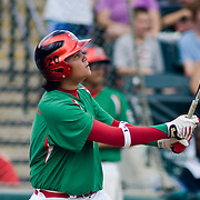 8/22/10 Aberdeen, MD:  Mexico first baseman LUIS MILLAN (20) hit a home run at The Cal Ripken World Series in Aberdeen MD. Credit: Saquan Stimpson/ Southcreek Global