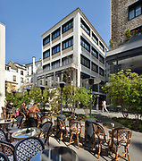 Beaupasssage, a pedestrianised area featuring trees, an art gallery and many quality food and drink establishments, opened in August 2018 in the passage between the rue de Grenelle, rue du Bac and boulevard Raspail, in the 7th arrondissement of Paris, France. The gastronomy development includes a restaurant and wine cellar by Yannick Alleno, Daily Pic by Anne-Sophie Pic, gourmet lounge by Pierre Herme, bakery by Thierry Marx, street seafood by Olivier Bellin and Fromagerie Barthelemy. Picture by Manuel Cohen