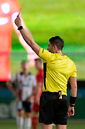 GOSFORD, AUSTRALIA - OCTOBER 02: Central Coast Mariners forward Matthew Simon (19) gets a red card during the FFA Cup Semi-final football match between Central Coast Mariners and Adelaide United on October 02, 2019 at Central Coast Stadium in Gosford, Australia. (Photo by Speed Media/Icon Sportswire)