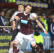 Hearts' Danny Wilson  and Dundee's Colin Nish  - Hearts v Dundee in the Clydesdale Bank, Scottish Premier League at Tynecastle.. - © David Young - www.davidyoungphoto.co.uk - email: davidyoungphoto@gmail.com