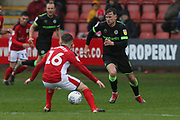 Forest Green Rovers Dayle Grubb(8) runs forward during the EFL Sky Bet League 2 match between Crewe Alexandra and Forest Green Rovers at Alexandra Stadium, Crewe, England on 27 April 2019.