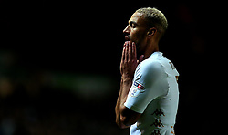 Kemar Roofe of Leeds United cuts a dejected figure - Mandatory by-line: Robbie Stephenson/JMP - 31/10/2017 - FOOTBALL - Elland Road - Leeds, England - Leeds United v Derby County - Sky Bet Championship